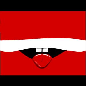 Gesichtsmaske Österreich Flagge Comik Mund