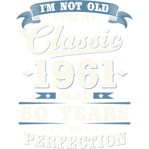 Jahrgang 1961 geboren Vintage 60. Geburtstag