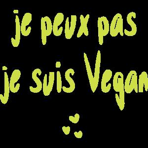 Ich kann nicht, ich bin Vegan.