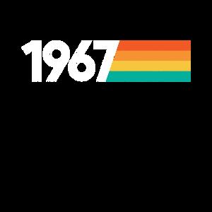 Vintage 1967 54 Jahre Geburtstag Geschenk Retro