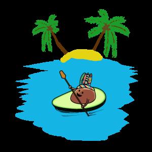 Advocado Kanu Karibik Insel Südsee Urlaub