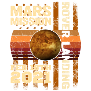Planet Mars Mission Rover Landung 2021 Geschenk