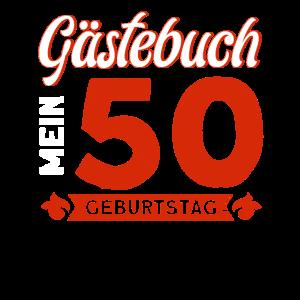 Gästebuch Mein 50. Geburtstag Geschenk