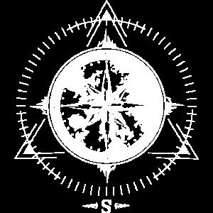 old sea ship compass symbol