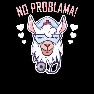 No Problama! Llama Retro Alpaka Shirt Geschenk