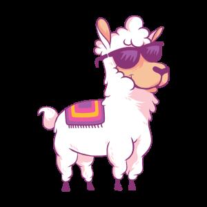 Llama Retro Alpaka Shirt Geschenk