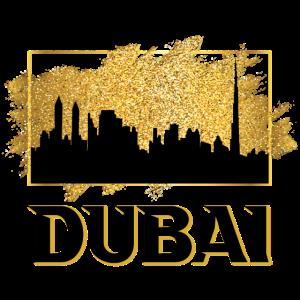 Dubai Vereinigte Arabische Emirate Skyline Gold