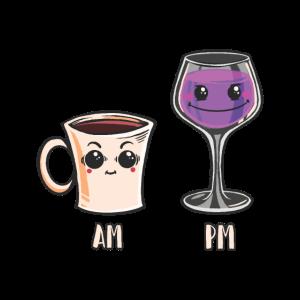 Morgens Kaffee Abends Wein Trinken Anime Cartoon
