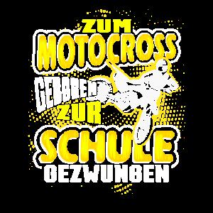 Zum Motocross Geboren Dirt Bike Motorrad Spruch