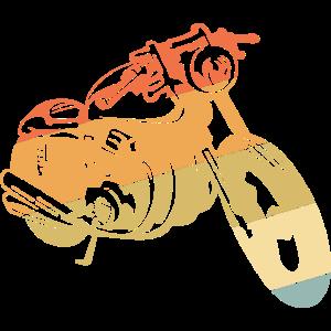 Retro Motorrad Vintage Geschenk