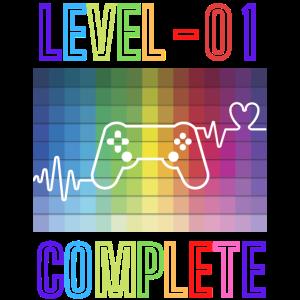 !ter Geburtstag Einjähriger Einjährige Gamer Level