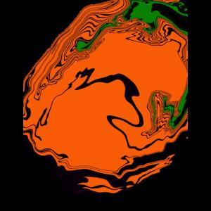 Bunt farbverlauf abstrak Farbmischung Orang grün