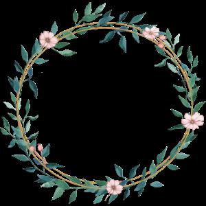Blumen Blätter Kranz- personalisierbar