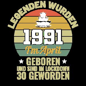 30. Geburtstag April Legende 1991