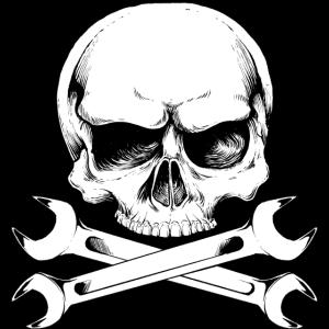 Schrauber Mechaniker Skull Logo