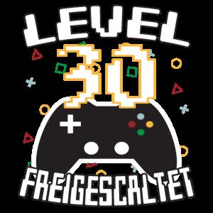 Level 30 freigeschaltet Gamer Geschenkidee