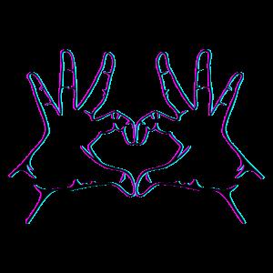 Hand Herz Geste Handherz geste Hand Herzgeste