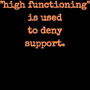 Hohe Funktion wird verwendet, um Unterstützung Autismus zu verweigern
