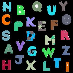 Comic Clip Art Buchstaben - Alphabet 2