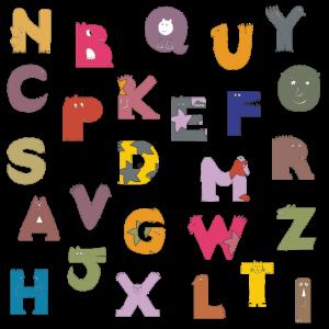 Comic Clip Art Buchstaben - Alphabet 1