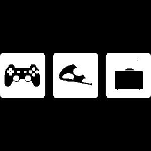 Zocken, Essen & Fernsehen
