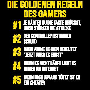 Gaming Gamer Design Die goldenen Regeln des Gamers