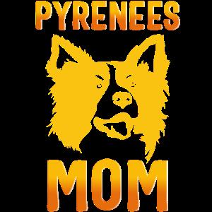 Große Pyrenäen Mama Shirt Hund Mama Geschenk für Sie