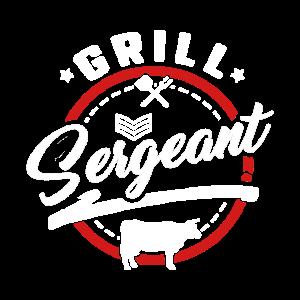 Lustige Fleisch Rauchen passende Shirts Grill Sergeant