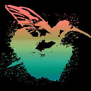 kolibri, aquarell,grün, Illustration, Verlauf