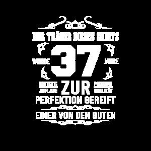 37. Geburtstag Zur Perfektion gereift Geschenkidee
