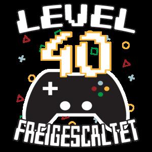 Level 40 freigeschaltet Gamer Geschenkidee