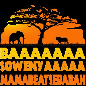 Savanne Elefant Sonnenuntergang Afrika Löwe König