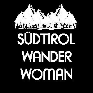 Südtiroler Wander Woman Wandern Berge Bergsteigen