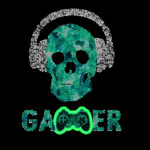 Gamer Controller Headphone Kopfhörer Totenkopf
