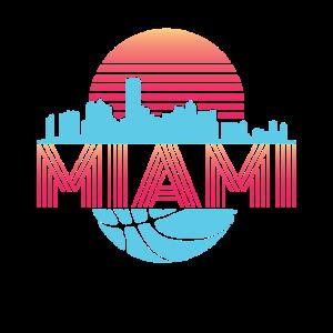 Miami Florida Basketball Stadtbild Retro