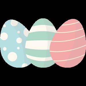 Drei Pastell Ostereier