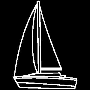 Segelboot schlicht Boot