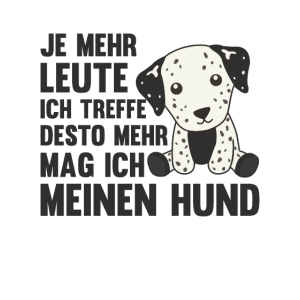 Hund Dalmatiner mag keine Menschen süße Hunde