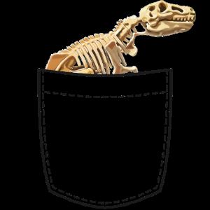 Brusttasche mit einem Dino Skelett