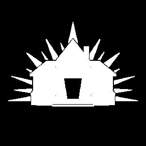 Haus Illustration weiß