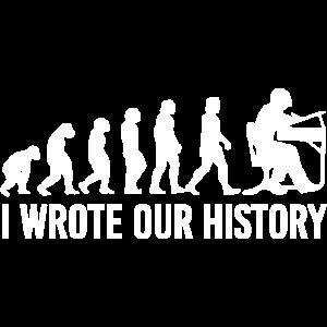 Evolution schreiben