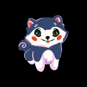 Kawaii Doggy Japanese Funny Husky