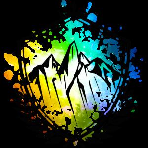 Berge Symbol Wappen Bunt