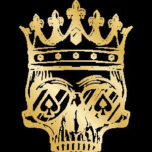 Skelett Totenkopf Krone König Symbol