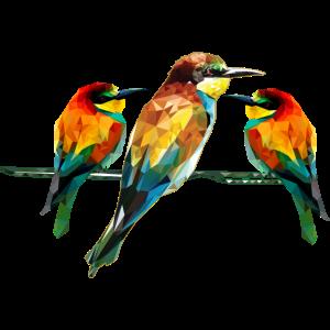 Polygonal Tier farbenfroh geometrie tiere Vogel