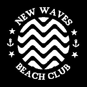 beach club waves surfer symbol