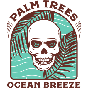 Palm trees Ocean breeze