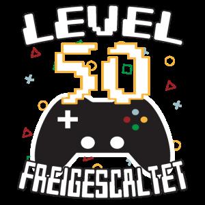 Level 50 freigeschaltet Gamer Geschenkidee