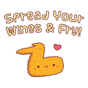 Gebratenes Huhn verteilt Ihre Flügel und Braten