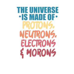 The universe, made of protons, neutrons, electrons